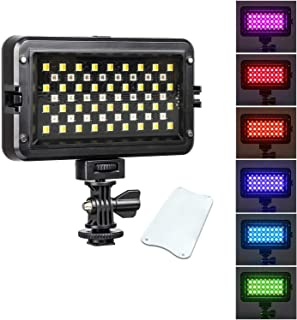 Viltrox RB10 LED video light for camera, With white filter and LCD display,Dimmable RGB Camera/Camera Video Light,2500-850...