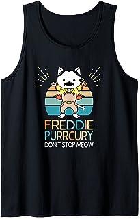 N'arrêtez pas Miaou Freddie Purrcury Musique de Chat Drôle Débardeur