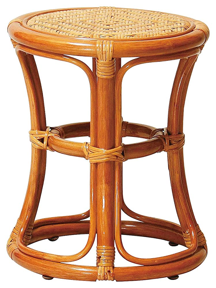 類推企業通知椅子 ラタン スツール 天然素材 R-ST38