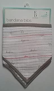 Aden by Aden + Anais Iconic 2pk Bandana Bib, Reads Joy, Happiness, Kindness, Love