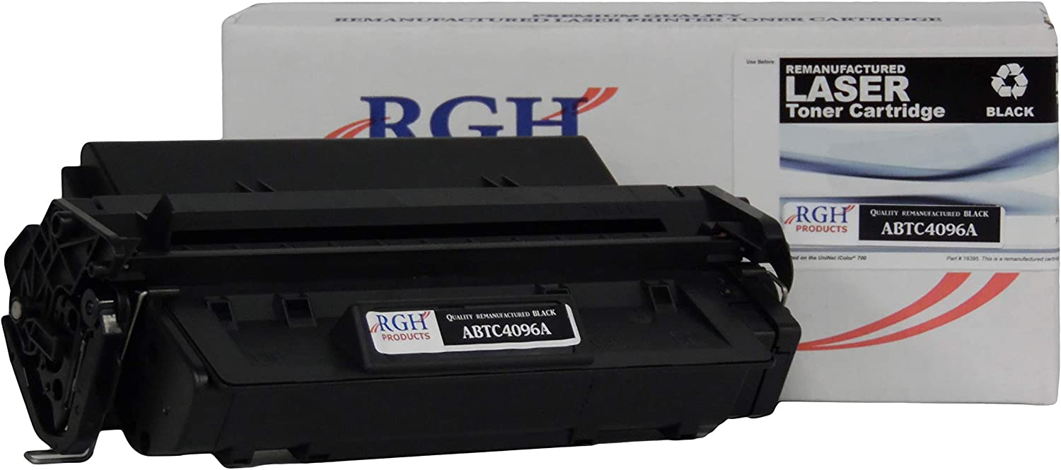 RGH Products Remanufactured Toner Cartridge ABTC4096A Tray Toner Cartridge Replacement for HP C4096A/96A Printer Black