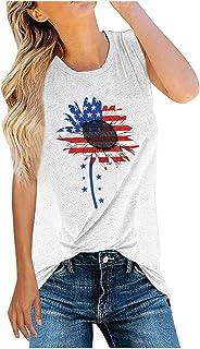 Women Tank Tops Summer Sleeveless Basic Cami Top Shirt Loose Fit Racerback Blouses