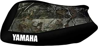 VPS Seat Cover Compatible With Yamaha Grizzly 700 Camo Top Black Sides Logo Seat Cover