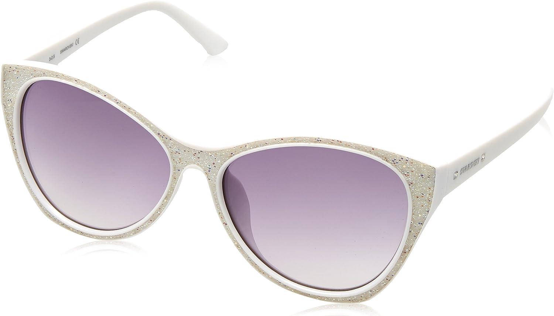 Swarovski Damen SK0108F-5921B Sonnenbrille, Weiß (Weiß Gradient Smoke), Smoke), Smoke), 59 B07D6WLZ4Q da34a6