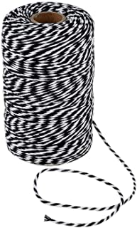 656 Feet Black and White Twine,200m Cotton Bakers Twine,Gift Wrapping Twine,Cotton Cord Kitchen Twine
