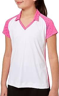 Girls' Foil Polka Dot Golf Polo