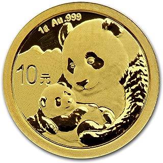 2019 CN China 1 gram Gold Panda BU (Sealed) Gold Brilliant Uncirculated