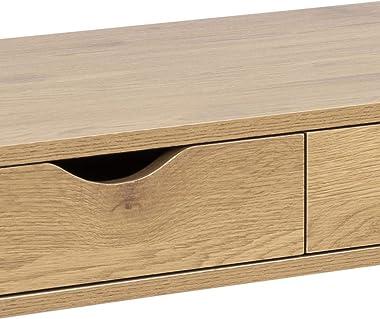 CONCEPT USINE Bureau scandinave avec tiroirs Noir