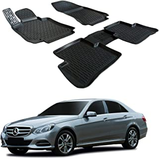 Mercedes classe a 2013 sur mesure voiture tapis de sol moquette noir mat gris bordure