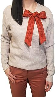 Maglione lana con fiocco