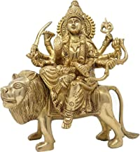 Ma Durga Statue Brass Idol of Devi MATA for Hindu Puja Temple Brass Sculptures and Statues Religious Gifts 8 Inches
