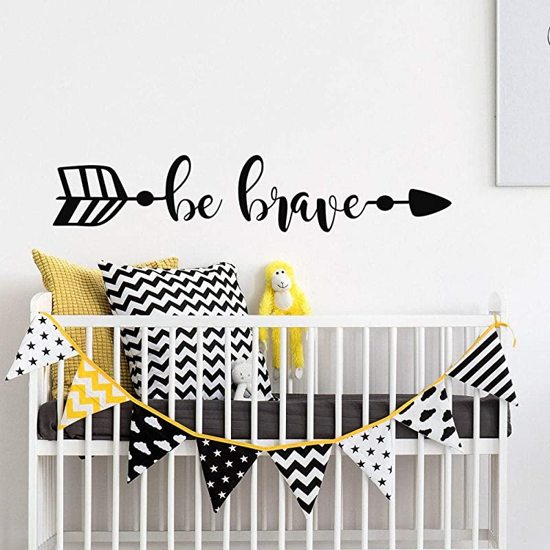 BYRON HOYLE Be Brave Wall Decal Arrow Wall Decal Removable Wall Decals Nursery Wall Decal Kids Boho Nursery Decor Wall Decal Boys Room Decor 91