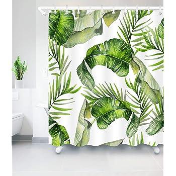 Blatt Stil Duschvorhang Wasserdicht Polyester Badewannenvorhang Wanne Vorhang