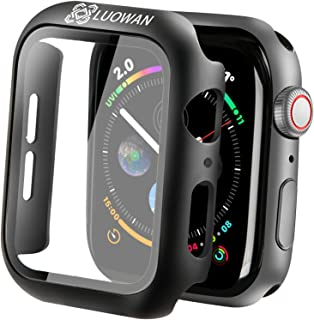 Compatible for Apple Watch Series 6/5 /4 /SE 44mm Case with Screen Protector Accessories Thin Bumper Full Coverage Matte H...