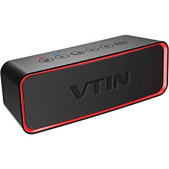 Support TF Card Built-in Mic Suitable for Home and Outdoor IPX5 Waterproof Speaker VTIN R4 Bluetooth Speaker 12W HD Sound Bluetooth Speaker 24H Playtime Portable Speaker Bluetooth V5.0