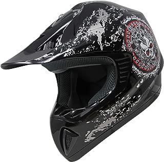 ATV Motocross Dirt Bike Off Road MX Quad Helmet Black (M)