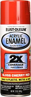 Rust-Oleum 271920 Automotive Acrylic Enamel 2X,12 oz, Gloss Cherry Red