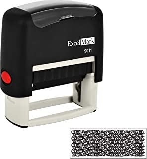 ExcelMark Identity Theft Protection Self-Inking Stamp (9011) - Black Ink
