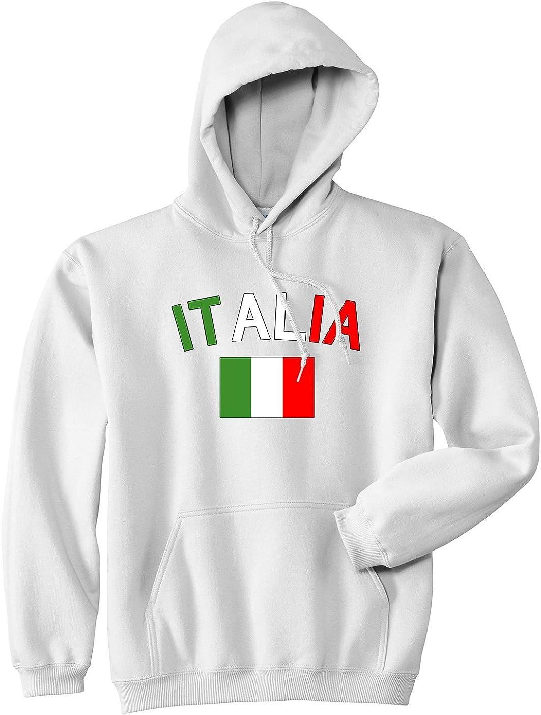 Kings Of NY Italia with Flag Italy Futbol Mens Pullover Hoodie