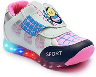 BOOMER CUBS Fashion Shoes Kids Unisex Synthetic Leather LED Sports Shoes for Boys and Girls