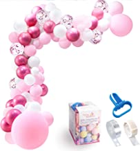 Pink Balloon Garland Kit, 103 Pcs Rose Gold, White, Metallic, Pastel Balloons Arch Kit Party Supplies Decorations with Balloon Strip Tape, Tying Tool and Dot Glue for Baby Shower Birthday Wedding