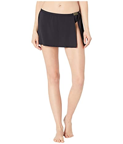 MICHAEL Michael Kors Logo Solids Belted Skirt Bottoms (Black) Women