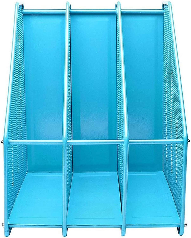 Office Books Magazine Holder Long-awaited Easy Triple Rack Assemble D Shipping included Storage