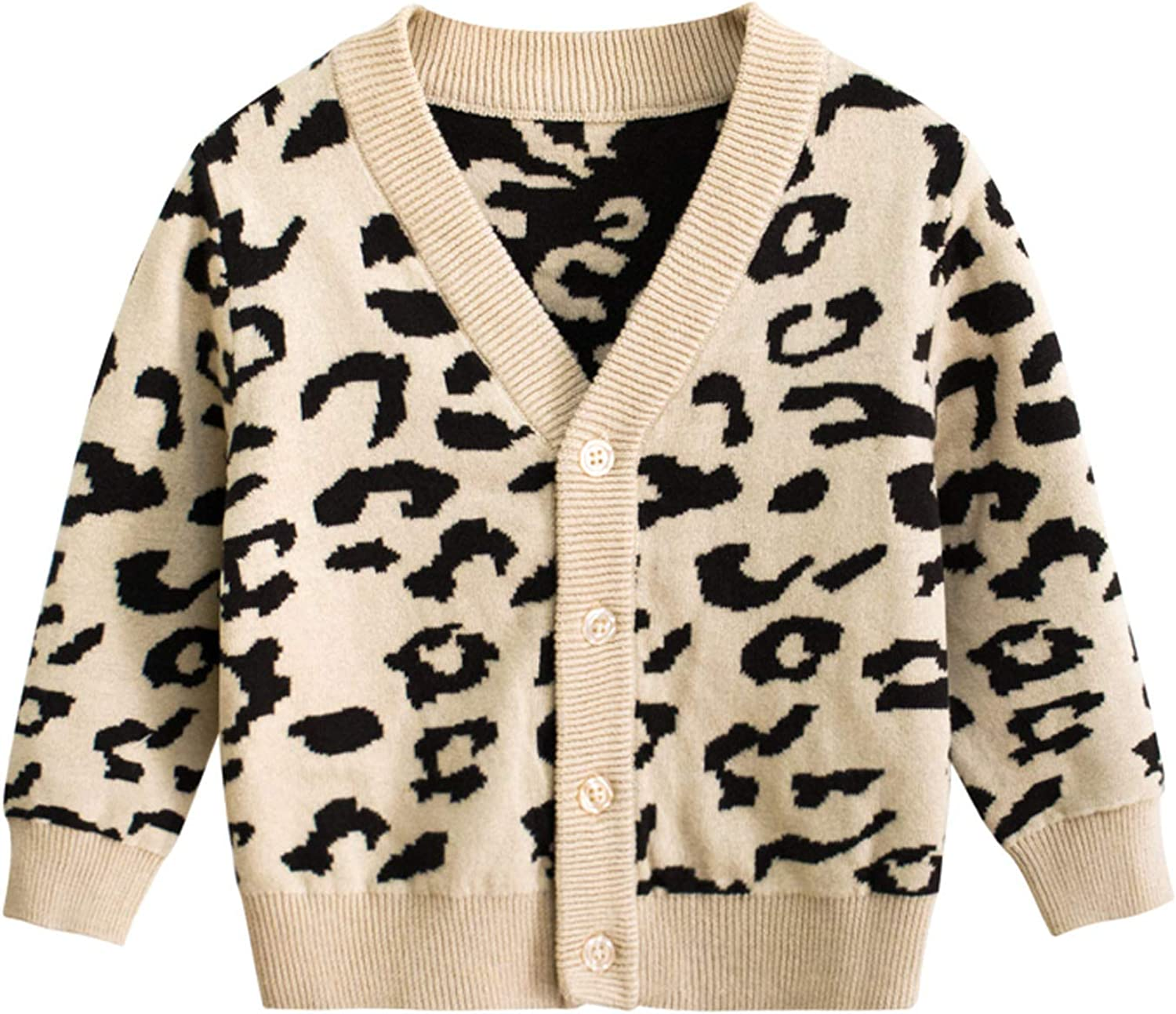 FUFUCAILLM Toddler Girl Fall San Antonio Mall Winter Leopard Sweat Outfit Outdoor Max 69% OFF