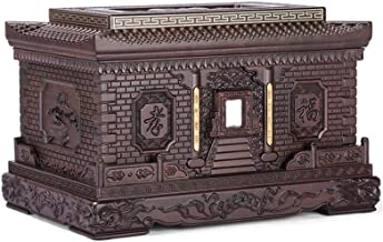 JIADUOBAO-urn Urn for Ashes Human Ashes Box Forever Memory Box Woodcarving Fine Texture (Black Rosewood, 400 Cubic Inches)...