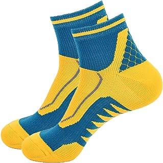 Toes&Feet Men`s Full Padded Anti Blister Ankle Athletic Running Socks,Size 6-11