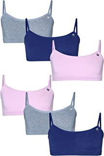 Girls' Seamless Training Sports Bra with Adjustable Straps 6-Pack