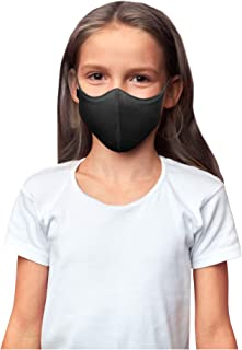 Bloch unisex child Soft Stretch Reusable (Pack of 3), Black, Kids Face Mask, Black, Kids US