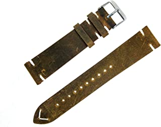 distressed leather watch strap