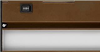 NICOR Lighting 21-Inch Hardwired Slim 2700K LED Under Cabinet Light Fixture, Oil-Rubbed Bronze (NUC-4-21-HL-W-OB)