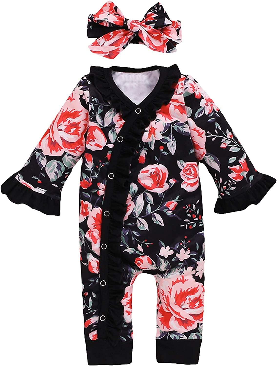 Happidoo NewbornGirlClothes Baby Coming Home Outfit with Headband