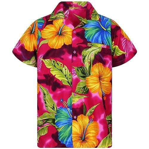 077bc8c2 V.H.O. Original King Kameha | Funky Hawaiian Shirt | Men | XS-12XL | Short