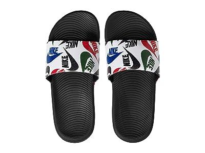 Nike Kids Kawa Slide SE JDI (Little Kid/Big Kid) (Black/White) Kids Shoes