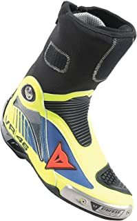 Dainese Axial Pro In D1 Rossi Replica Boots Blue/Yellow 42 Euro/9 USA