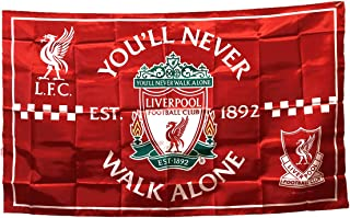 UHBHEA Liverpool Soccer Flag - FC Club Banner for Wall Patio Garden Lawn Outdoor Nylon Flag Red/Home 5935IN