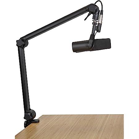 Gator Frameworks Soporte de brazo de micrófono de transmisión de lujo montado en escritorio para podcasts y grabación; cable XLR integrado (GFWBCBM3000)