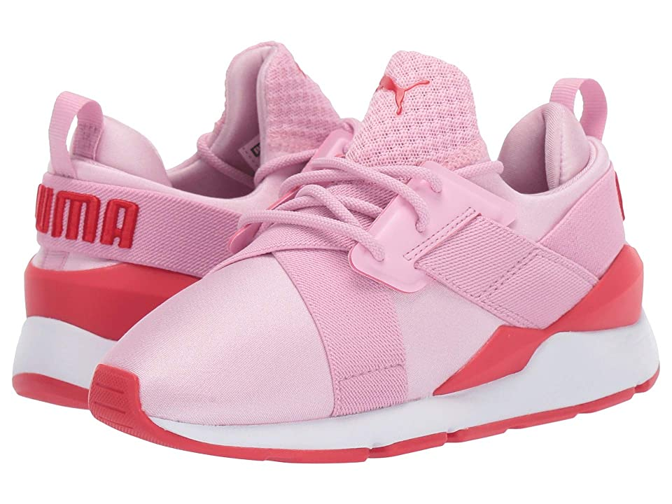 Puma Kids Muse (Little Kid) (Pale Pink/Hibiscus) Girl