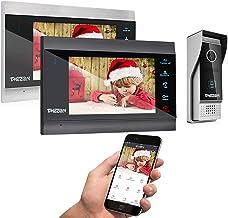 TMEZON Wireless Wifi Smart IP Video Door Phone Intercom System Doorbell Entry 2 Monitor 7..