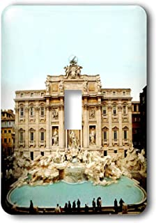 """3dRose lsp_1137_1""""Trevi Fountain Italy"""" Single Toggle Switch"""
