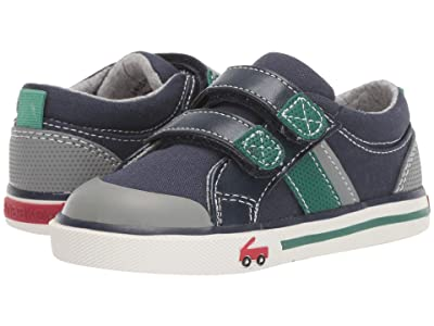 See Kai Run Kids Russell (Toddler/Little Kid) (Navy/Green) Boys Shoes