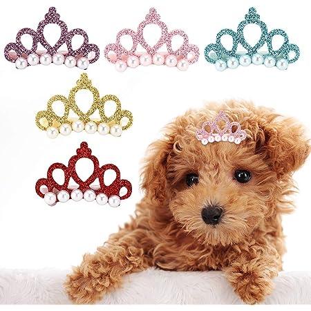 LeerKing Hund Haarspangen Bowknots Katze Welpen Kopfschmuck Haargummis Set Hundesalon Haarnadel Haarb/änder f/ür Tiere 9 St/ücke