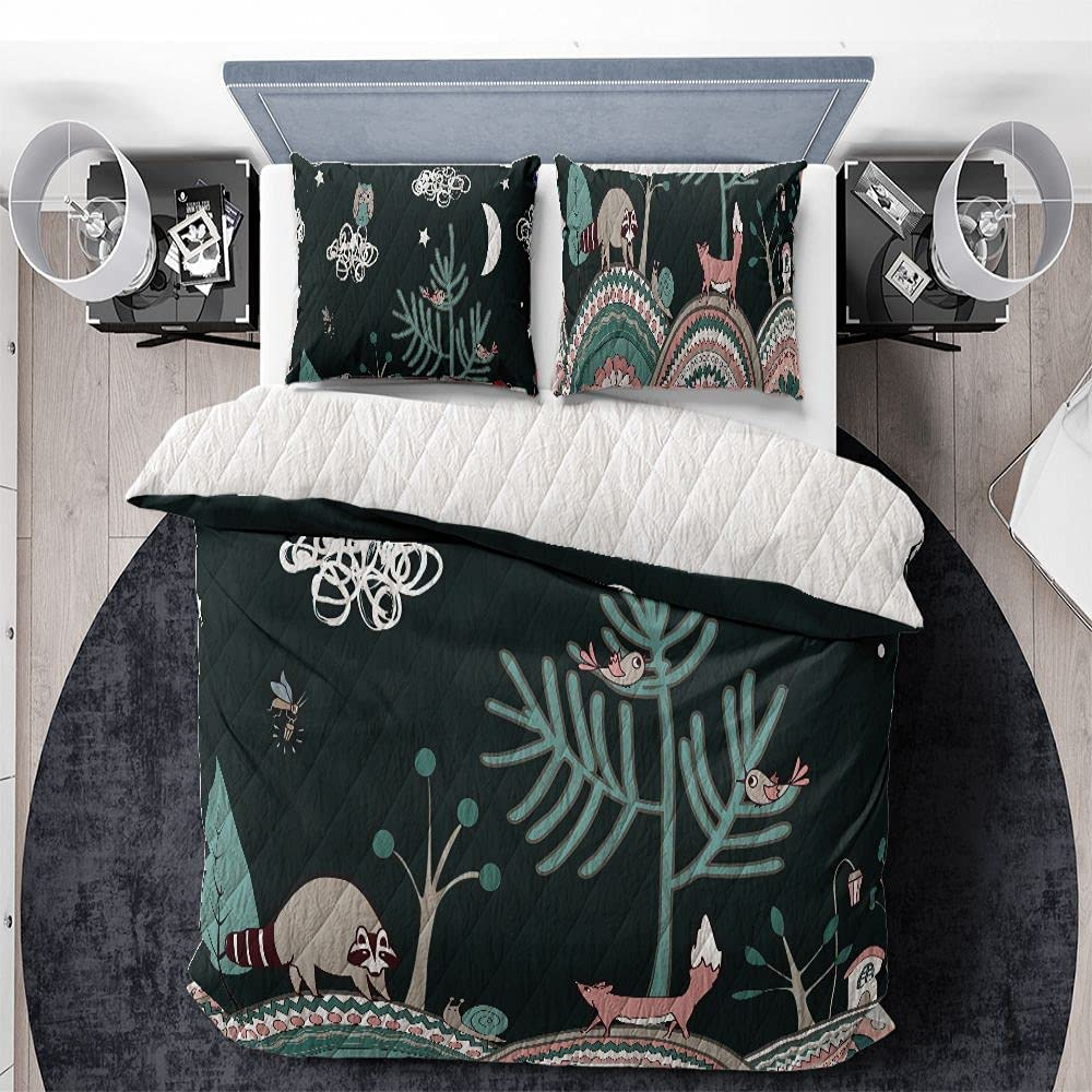 ALANCA Cute Kids in Fairy Night Bedding 3Psc Free shipping / New Set Icl Quilts Very popular with