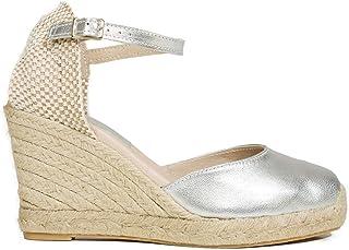 83a29f7088d Zapatos miMaO. Zapatos Piel Mujer Hechos EN ESPAÑA. Cuñas Esparto Mujer.  Sandalias Plataforma