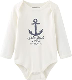 Unisex Baby Long-Sleeve Bodysuits 5-Pack Baby Clothes Onesies for Baby Boys Girls