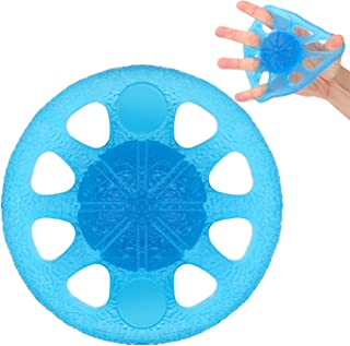 MoKo Grip Exerciser Ball, Finger Exerciser & Hand Strengthener, Squeeze and Flex Training for Thera-Band Strength Training, Stress Reflexology, Muscle Pain Relief and Therapy, Blue