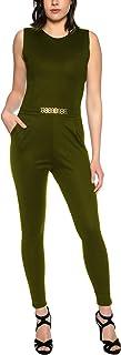 Crazy Age elegancki kombinezon typu jumpsuit z paskiem, lekki i przewiewny
